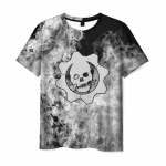 Merch Men T-Shirt Gears Of War White Smoke Logo