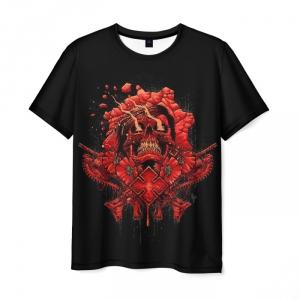 Merchandise Men T-Shirt Gears Of War Black Design Horror