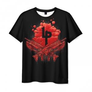 Merchandise Men T-Shirt Gears Of War Black Guns Print