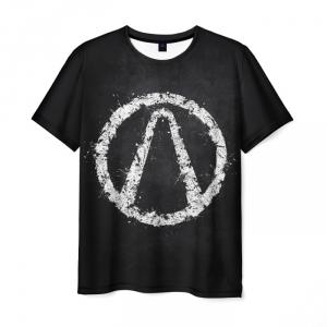 Merch Men T-Shirt Borderlands Black Emblem Design