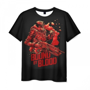 Merchandise Men T-Shirt Gears Of War Bound Of Blood Black