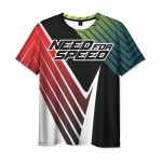 Merch Men T-Shirt Need For Speed Text Image
