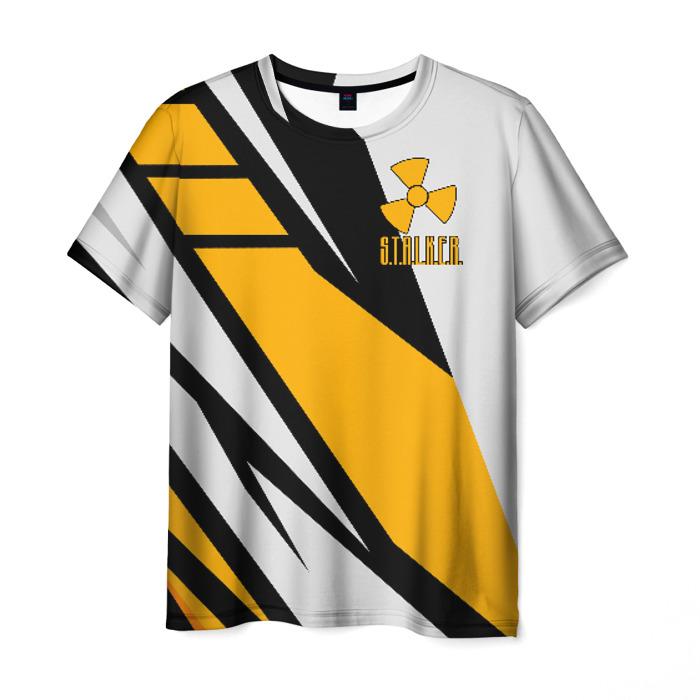 Merch Men T-Shirt White Design Stalker Print