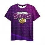 Merch Men T-Shirt Violet Print Brawl Stars