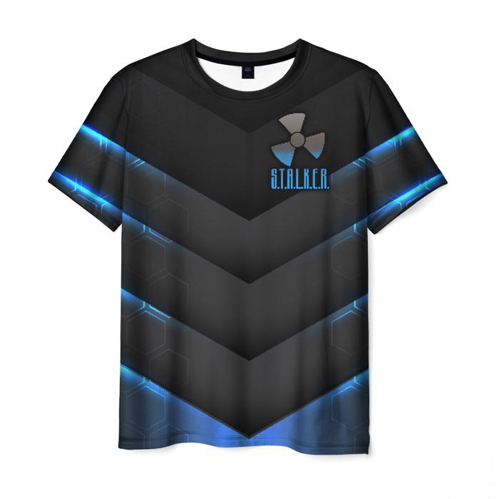 Merch Men T-Shirt Emblem Text Stalker