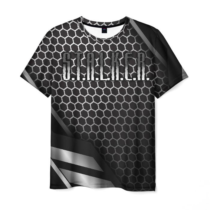 Collectibles Men T-Shirt Comb Print Stalker Black