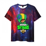 Merchandise Men T-Shirt Brawl Stars Hero Leon Space Print