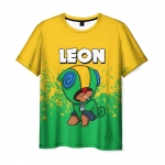 Merchandise Men T-Shirt Leon Hero Game Brawl Stars
