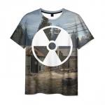 Merchandise Men T-Shirt Radiation Sign Stalker