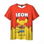 Merchandise Men T-Shirt Brawl Stars Leon Pikachu