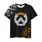 Merchandise Men T-Shirt Overwatch Emblem Black