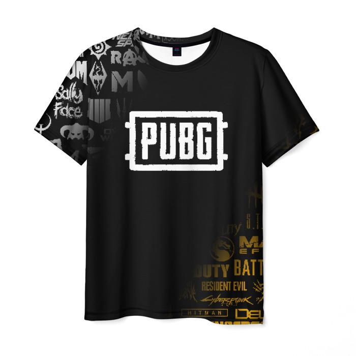 Merchandise Men'S T-Shirt Design Pubg Merchandise Black Emblem