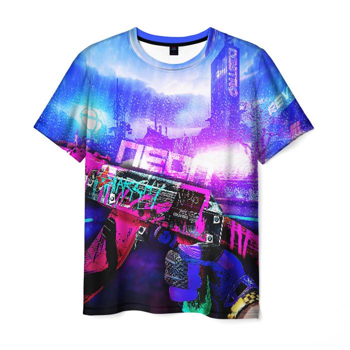 Merch Men'S T-Shirt Print Neon Revolution Counter-Strike