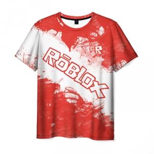 Merchandise Men'S T-Shirt Roblox Coral Print Title