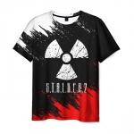Merchandise Men'S T-Shirt Game Radiation Sign Stalker Print