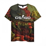 Merch Cs:go T-Shirt Psychedelic Picture Counter Strike