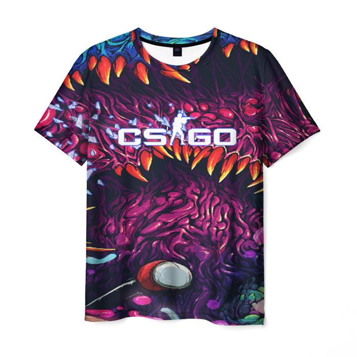Merchandise Men'S T-Shirt Psychedelic Counter-Strike Game Print Merch