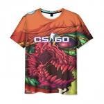 Merchandise Men'S T-Shirt Title Game Cs:go Psychedelic Print