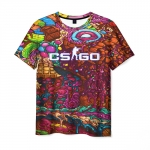 Collectibles Men'S T-Shirt Cs:go Psychedelic Picture Game
