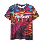 Merchandise Men'S T-Shirt Psychedelic Print Counter-Strike