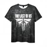 Merch Men'S T-Shirt White Text The Last Of Us