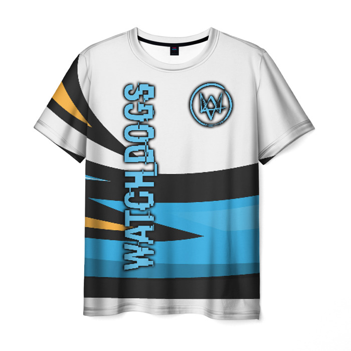 Collectibles Men'S T-Shirt Merchandise Watch Dogs Game White Print