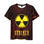 Collectibles Men'S T-Shirt Yellow Sign Radiation Stalker