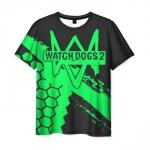 Merchandise Men'S T-Shirt Black Watch Dogs Emblem Apparel