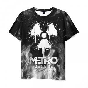 Merch Men'S T-Shirt Black Merch Metro Exodus Image
