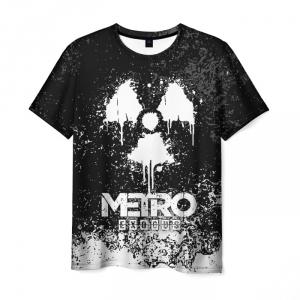 Merch Men'S T-Shirt Sign White Metro Exodus