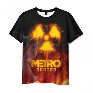Merch Metro Exodus T-Shirt Flames Men'S Print