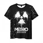 Merch Men'S T-Shirt Black Metro Exodus Design Merch