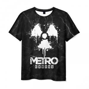 Merch Men'S T-Shirt Black Merch Metro Exodus Print