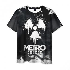 Merch Men'S T-Shirt Emblem White Metro Exodus