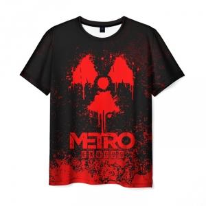 Merch Men'S T-Shirt Red Emblem Metro Exodus