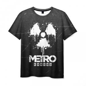 Merch Men'S T-Shirt Black Print Metro Exodus Merch