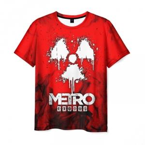 Merch Men'S T-Shirt Red Title Print Metro Exodus