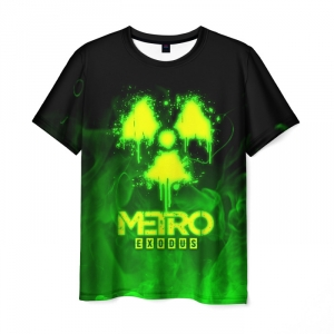 Merch Men'S T-Shirt Label Print Metro Exodus