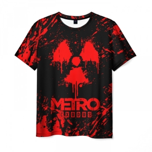 Merch Men'S T-Shirt Red Sign Print Metro Exodus
