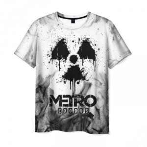Merch Men'S T-Shirt White Design Metro Exodus