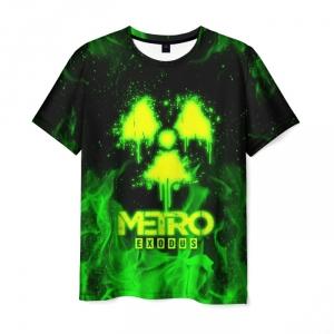 Merch Men'S T-Shirt Toxic Green Metro Exodus