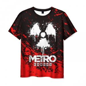 Merch Men'S T-Shirt Radiation Print Metro Exodus Merch