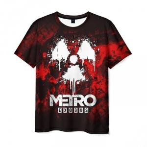 Merch Men'S T-Shirt Black Print Metro Exodus Design