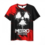 Merch Men'S T-Shirt Print Black Design Metro Exodus