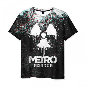 Merch Men'S T-Shirt Black Design Metro Exodus
