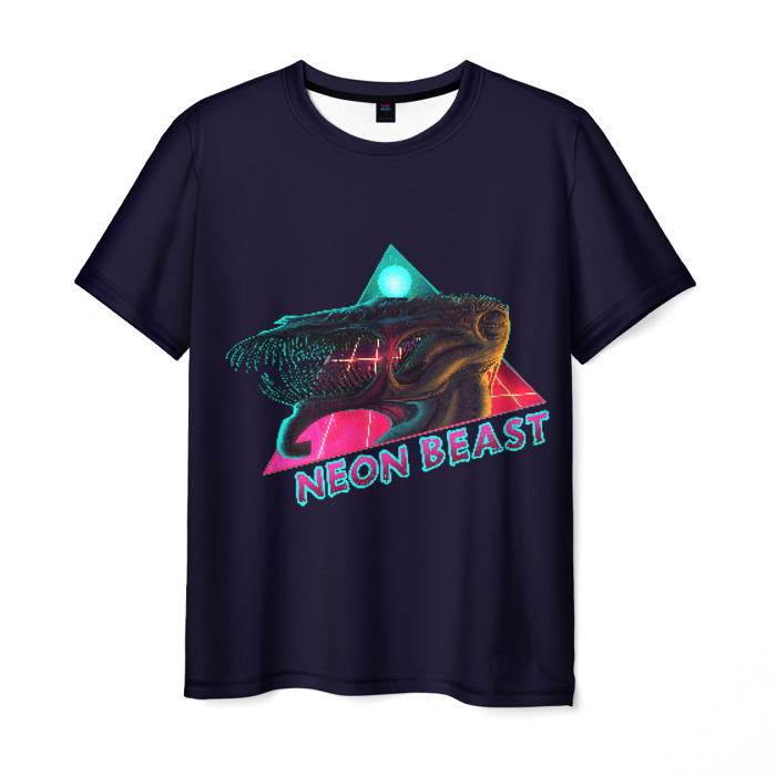 Merchandise Men'S T-Shirt Print Neon Beast Hotline Miami