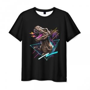 Collectibles Men'S T-Shirt Tyrannosaurus Rex Hotline Miami Black