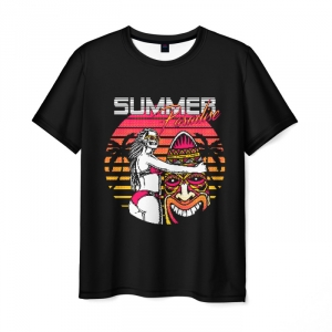 Collectibles Men'S T-Shirt Print Synthwave Summer Hotline Miami