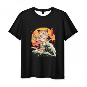 Collectibles Men'S T-Shirt Print Neko Sushi Wave Hotline Miami