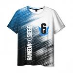 Merchandise Men'S T-Shirt Outline Graphic Rainbow Six Siege Print